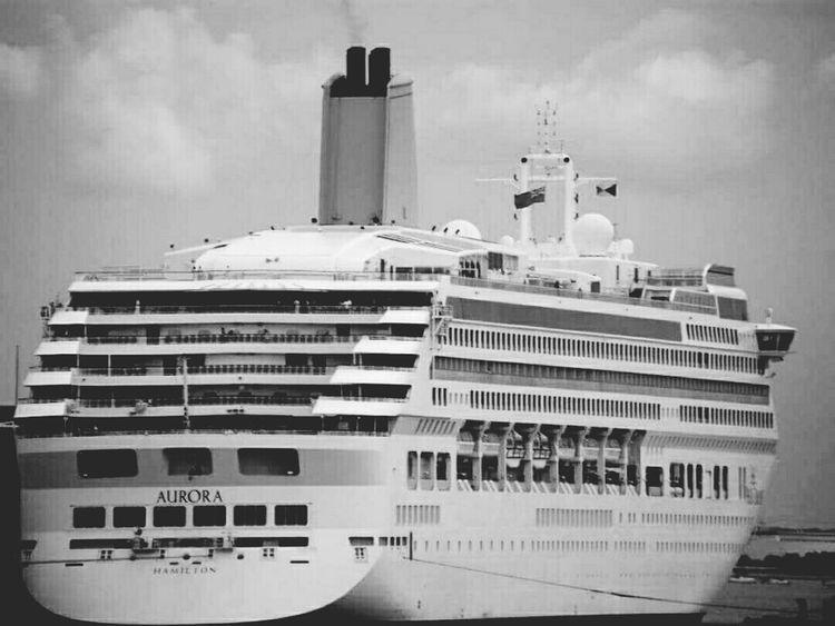 Cruise Ship Cruiseship Cruise Boat Southampton Docks Decking Sea Black And White IPhoneography Black & White Eyeemphotography