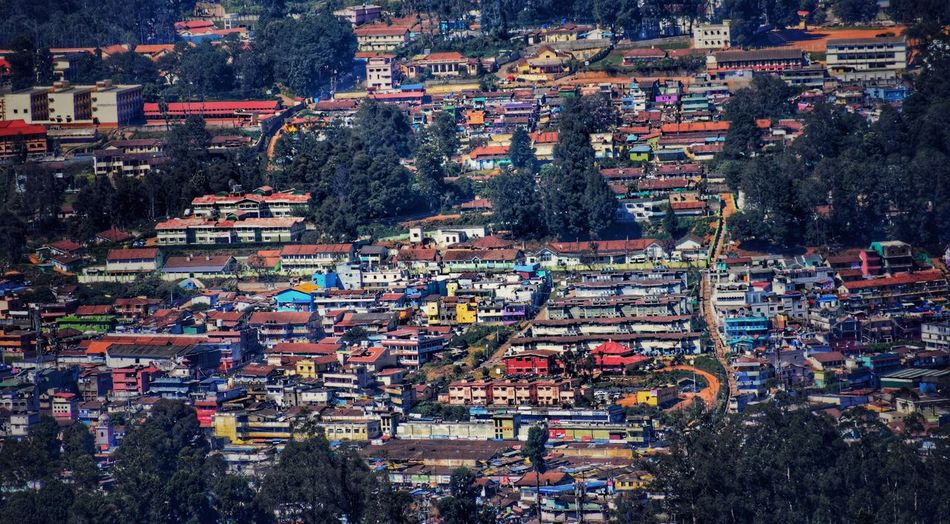 Ooty Ooty Beauty Ootyculture Ootydiaries Houses Trees Multi Colored City Outdoors Day Cityscape Full Frame The Week On EyeEm EyeEmNewHere Framed View Travelling Photography ForTheLoveOfPhotography Travel Colourful Colours Of India Colour Photography Colorful Colors Hilltop Hill Station