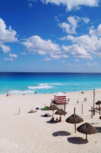 Playa Delfines  (Dolphins beach) in Quintana Roo, Mexico. Neighborhood Map Beach Ocean Blue Sky People Live For The Story Colour Your Horizn Colour Your Horizn