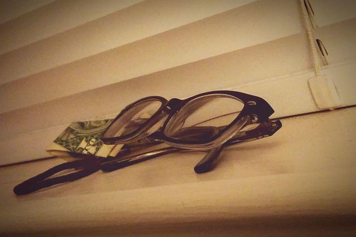 Indoors  Close-up No People Day Rayban Wayfarer Glasses Dollar Hair Piece Window Sill