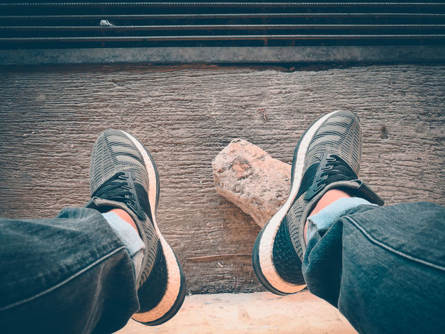 daily grind Adidas PureBoost Zero Gravity Primeknit Shoes EyeEm Selects Low Section Shoe Jeans Personal Perspective Pair Lifestyles