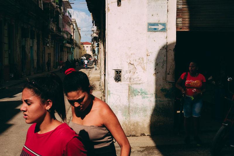 Cuba Havana Havana, Cuba The Street Photographer - 2018 EyeEm Awards Architecture Built Structure Contrast Fujifilm Fujifilm_xseries Lifestyles Real People Street Streetphotography Xpro1 First Eyeem Photo EyeEmNewHere