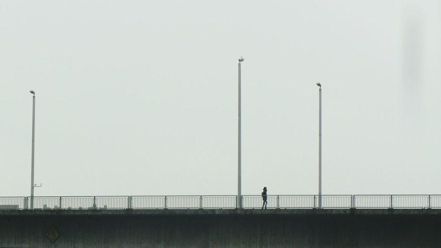 Day Bridge Men Walking Alone Urbanphotography Outdoors Contrast City Life Urban Exploration Scenics