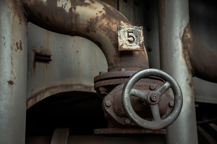 Urbex - 22 Machinery Metal Industry Rusty No People Close-up Machine Part Focus On Foreground Factory Indoors  Old Equipment Valve Abandoned Technology Connection Day Obsolete Control Manufacturing Equipment Machine Valve Wheel
