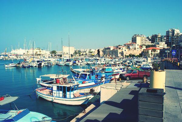Greece, Crete In Greece Crete Greece Yachts Yachtlife City View  Beautiful View Enjoy The View Summertime Sea&sky
