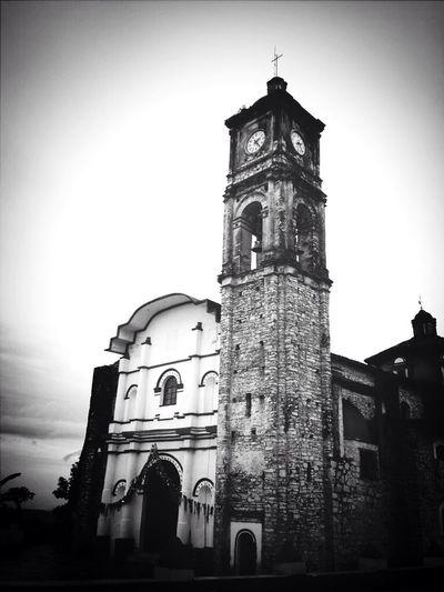 Parroquia de Tuzamapan de Galeana Puebla Blackandwhite Getting Inspired Monochrome
