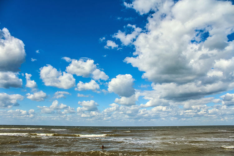 Beach Beauty In Nature Blue Cloud - Sky Clouds Colorful Colors Day Holiday Horizon Over Water Nature No People Outdoors Scenics Sea Sea And Sky Seascape Sky Summer Tranquil Scene Tranquility Travel Travel Destinations Water Wave