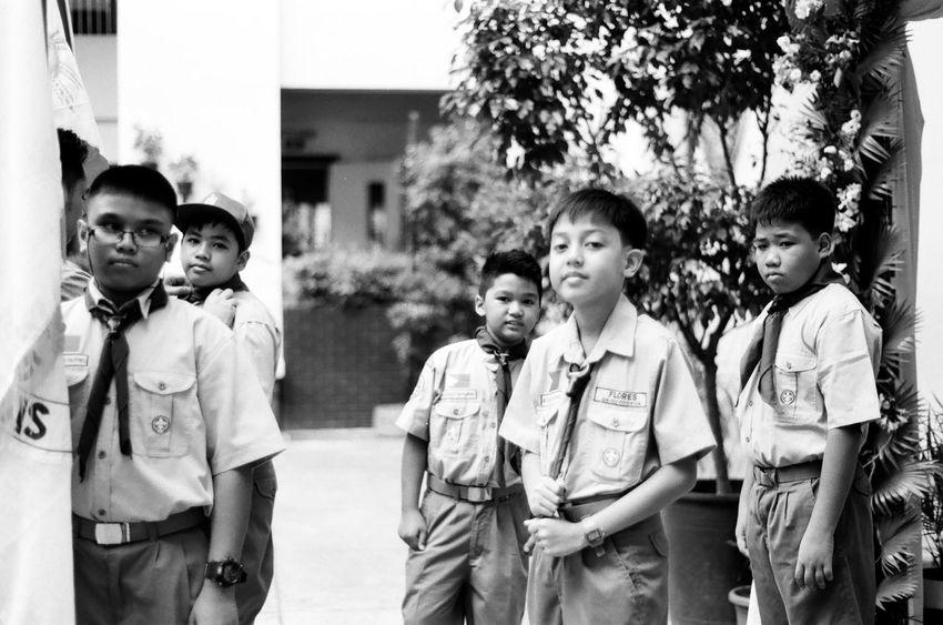Eyeem Philippines Portrait Blackandwhite 35mm Film Minolta Xg1n Md50mm1.7 Acros100 'boy scouts'