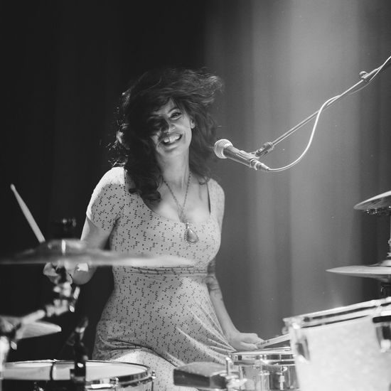 Concert Blackandwhite Blackandwhite Photography Indoors  Drums Girl