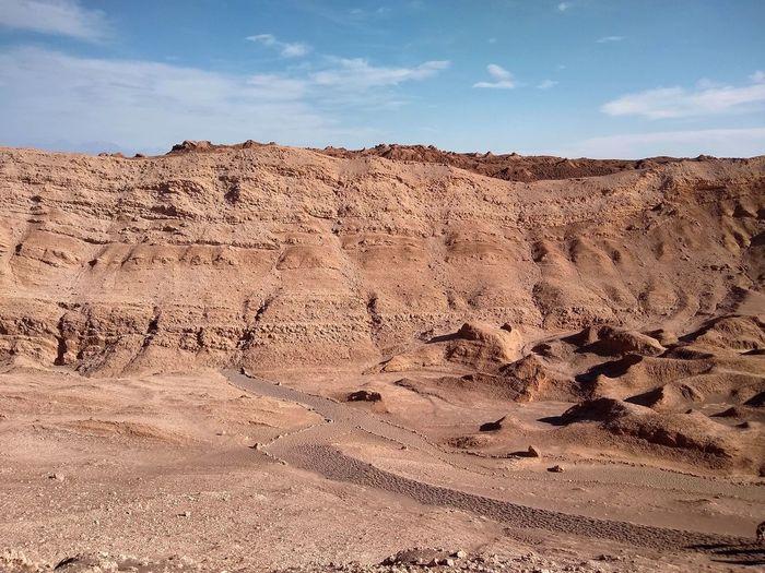 Valle de la luna in atacama desert - chile