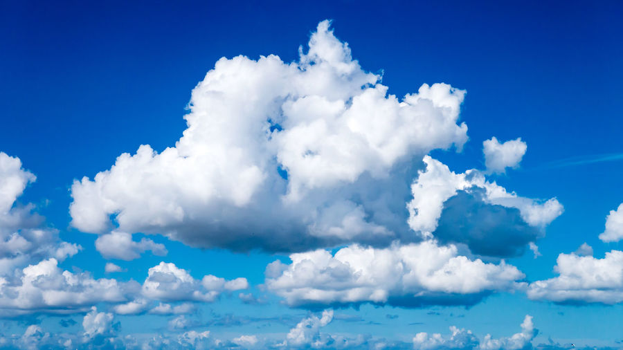 Beauty In Nature Blue Cloud - Sky Clouds Only Cloudscape Idyllic Meteorology Nature No People Scenics - Nature Sky Sky With Clouds Sky With Small And Big Clouds