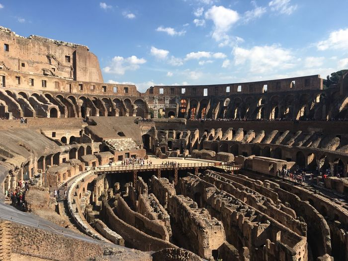 Coliseum History Travel Destinations Ancient Old Ruin Architecture Built Structure The Past Amphitheater Archaeology Tourism Ancient Civilization Sky Outdoors Day Large Group Of People Ancient History People