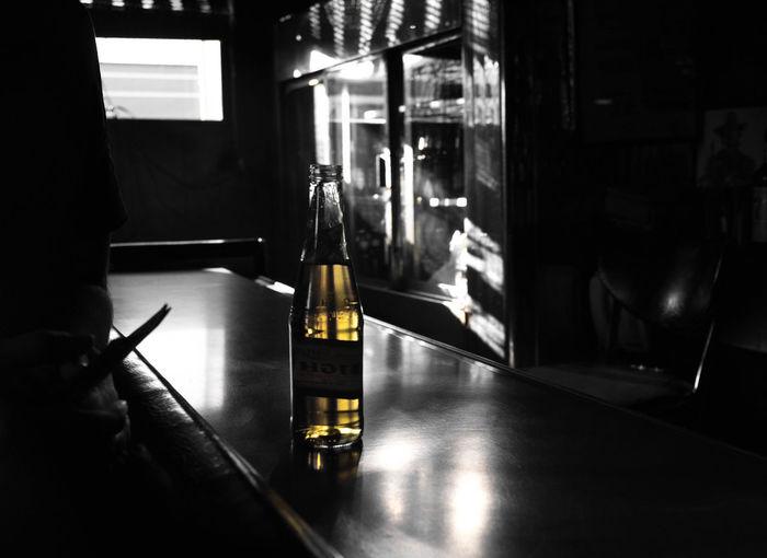 EyeEmNewHere Bar Counter Bottle Drink Foreground Illuminated Transparent Window