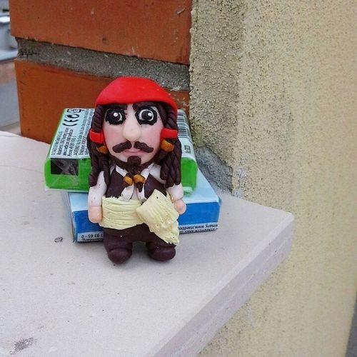 Captain Jack Sparrow Fimolovers Handmade Miniature Film Lovefilm Polymerclay