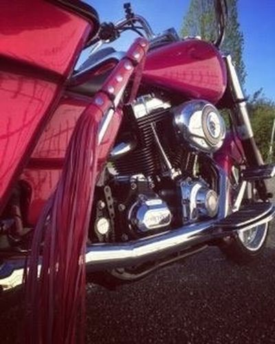 Harleydavidson Baggerstyle Pink Color No People Motorcycle Outdoors Chopper First Eyeem Photo
