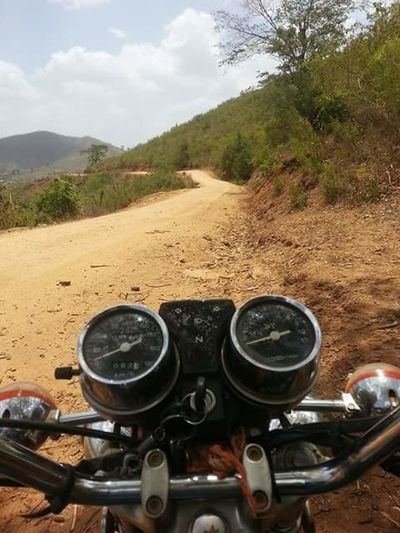 Journey Into The Light Motorcycle People No Peopleahead Ahead Of The Pack Dusty Road korogwe-tanzania Nature