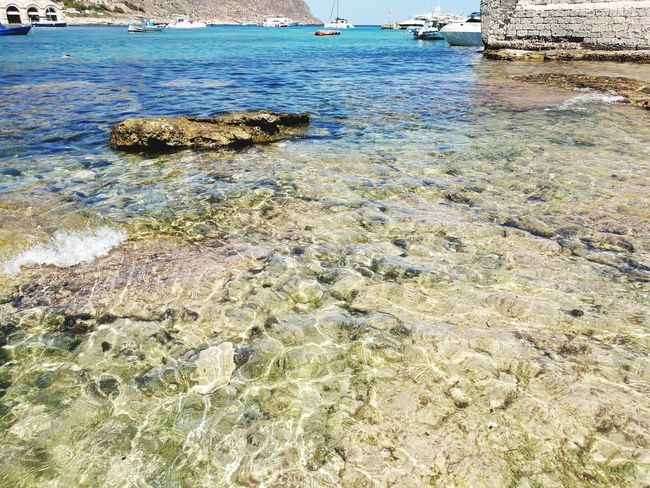 Beach Water Nature Sand Day Outdoors No People Sea Beauty In Nature High Angle View Tranquility Shallow Scenics Wave Close-up Pebble Beach Sky Sicily Favignana's Sea