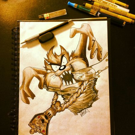 Illustrator Taz Tattoo Design Check This Out