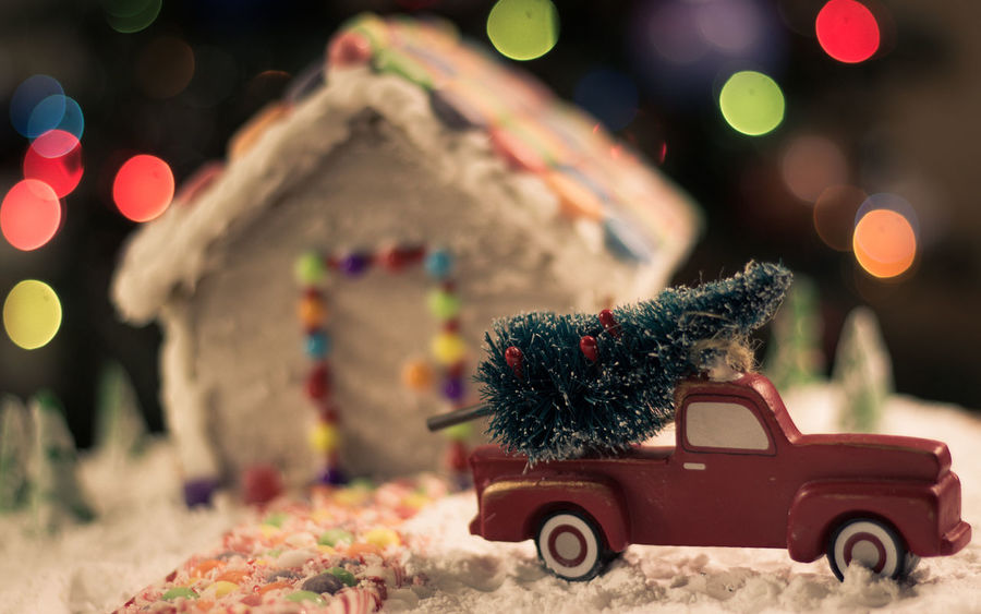 Gingerbread house Snow Truck Gingerbreadhouse Gingerbread House Red Truck Background Christmas Bokeh EyeEm Selects Food Treat Bokeh Candy Cane Candycane  Candy Holidays Holidays Christmas Lights Christmas Background Holiday POV Car Christmas Christmas Tree Land Vehicle Christmas Decoration Night Transportation No People