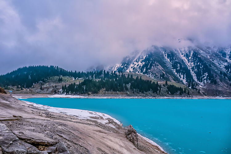 Nature Nature Photography Beauty In Nature Cloud - Sky Cold Temperature Day Lake Landscape Mountain Mountain Range Mountains Nature Nature_collection Naturelovers No People Outdoors Scenics Sky Snow Snowcapped Mountain Tranquil Scene Tranquility Tree Water Winter