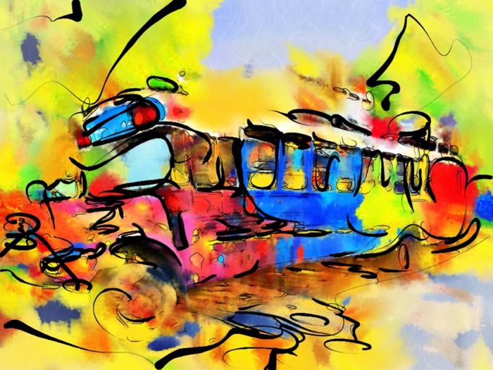 Ken Kesey's famous bus Further. Photo + Virtual Painter Lleno app. What The Bus? Further Hippielife Country Fair Eugene Oregon Bus Hallucinogenic Are You On The Bus Or Off The Bus? Merry Pranksters Electric Acid Kool Aid Test Yellow Vehicle Paint The Town Yellow