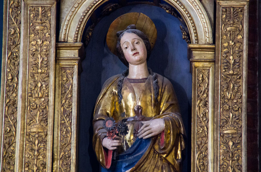 A Church Church Of The Brothers Day Europe Gold Gold Colored History Human Representation Indoors  Italy No People Religion Renaisa Santa Maria Gloriosa Dei Frari Sculpture Spirituality Statue Venice Venice, Italy