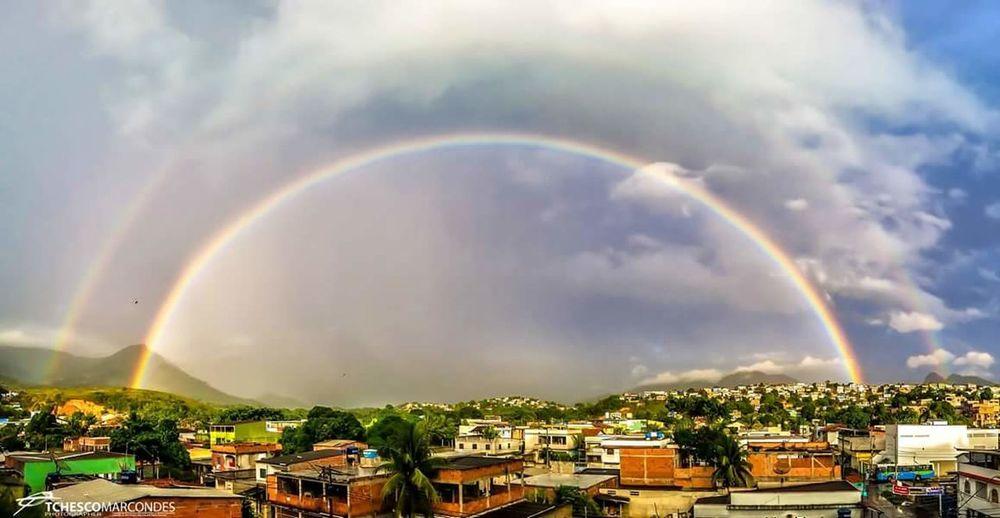 Double rainbows Rain Rainbows Arcoiris Arcoiris🌈 Rainbow Rainbows End Rainbows Sky Clouds Rainbowsky
