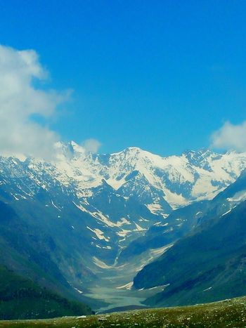 Manali Mountain Range Snow Snowcapped Mountain