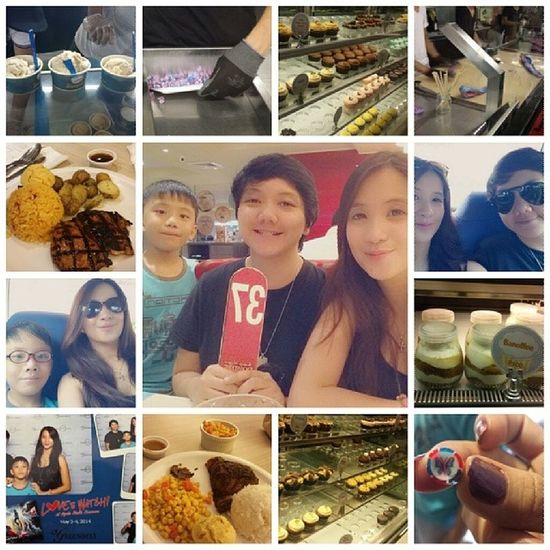 Spiderman movie date with @meldie_mandia and TheBabe @ilovegreenbelt ? Lunch @KRR, haven't eaten there for a long time. Bought butterfly candy from @madeincandyph , Banoffee pie from @vanillacupcakebakery and donuts from @jcophilippines! Thank you Lord, we really needed this. Soooooon, Maleficent!!! Sugarcrashinthemaking Sweetnessoverload Late10thcelebration sweettooth qt