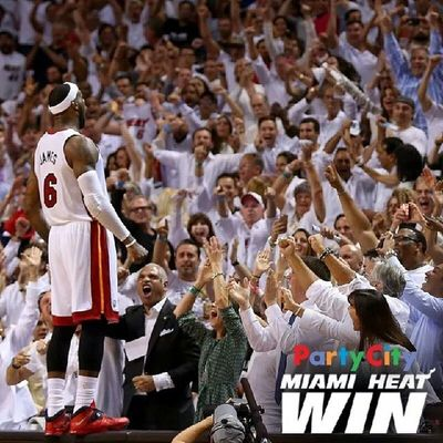 Hail to the king. WhiteHot HeatNation Goheat EasternConference Finals