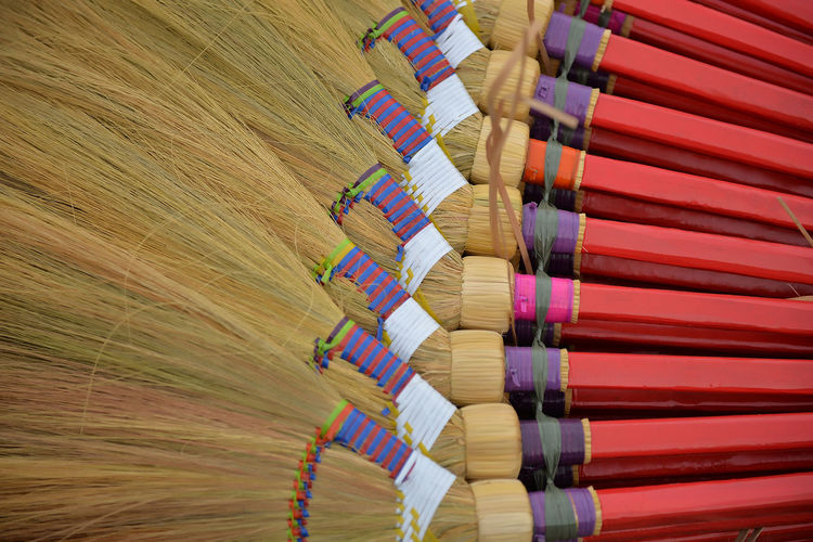 Backgrounds Broom Brooms  Close-up Day Eyeem Philippines Handmade Large Group Of Objects Material Multi Colored No People Outdoors Pattern Textile