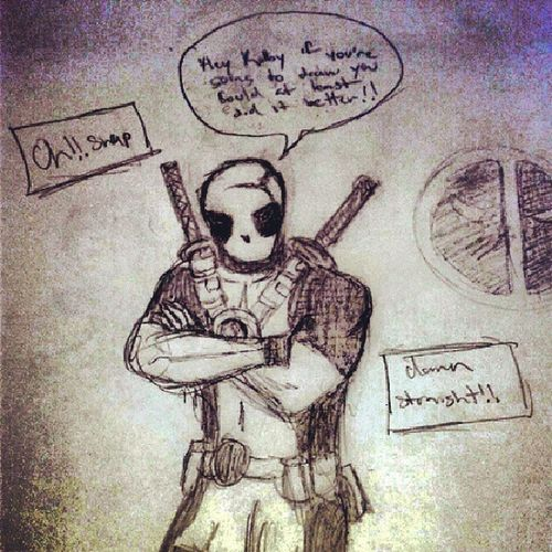 Deadpool lol!!! Deadpool 4thwall Angry Diss art illustration drawing draw TagsForLikes picture photography artist sketch sketchbook paper pen pencil artsy instaart beautiful instagood gallery masterpiece creative photooftheday instaartist graphic graphics artoftheday