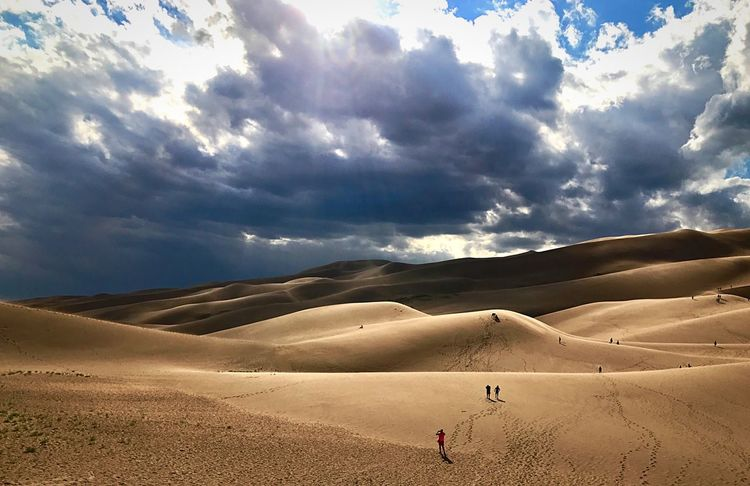 EyeEmNewHere National Park Colorado Sand Sand Dune Desert Sky Cloud - Sky Landscape Arid Climate Nature Scenics Outdoors Beauty In Nature EyeEmNewHere