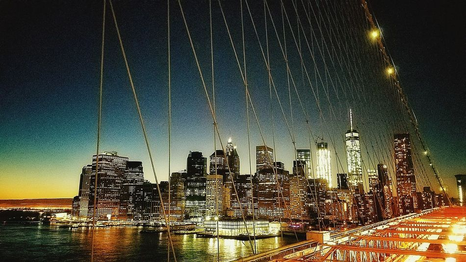 NYCNights New York City Photos Brooklyn Bridge  Nycphotography SunsetNyc Architecture NYC Skyline Nycarchitecture Suspension Bridge