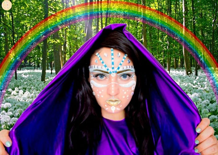 🌷🌈👼🏻👼🏼👼🏾🌈🌷 Formyangels Laviniafenton Angel Forest Rehael Rainbow EyeEm Best Shots EyeEm Gallery EyeEm Nature Lover EyeEm Magical Whismical Multi Colored Hologram Finding New Frontiers October Uniqueness