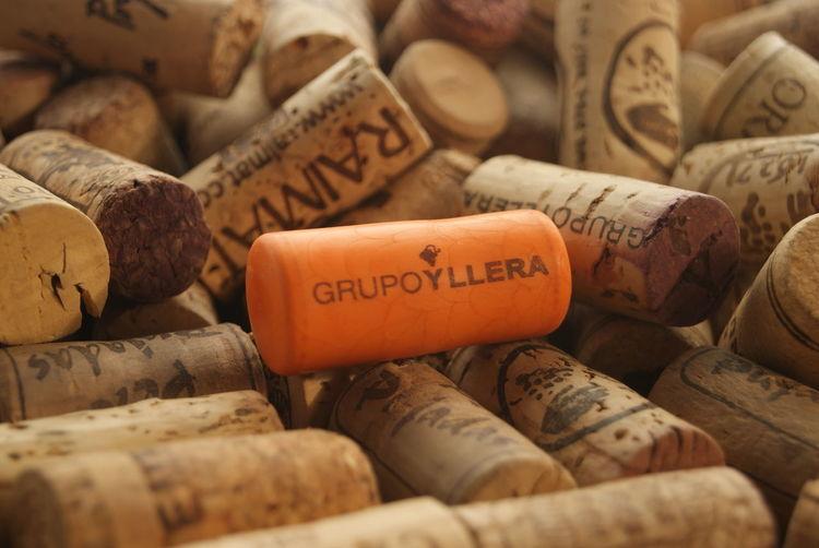 Close-up of corks wine cellar