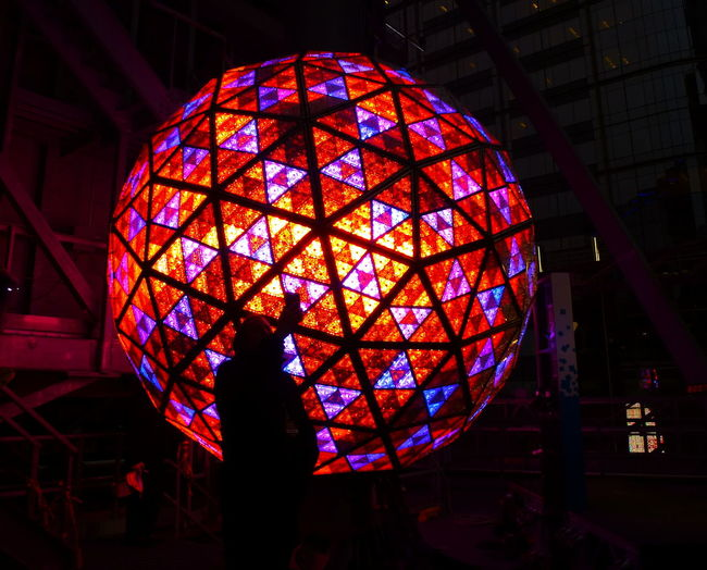 Ball Crystal Ball Illuminated Landscape_Collection Low Angle View Multi Colored Night Colors Night Photography Swarowski Crystal Urban Landscape Break The Mold The Portraitist - 2017 EyeEm Awards
