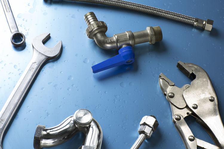 Equipment Hand Tool Metal No People Pipe Plumber Plumbing Table Tools Water Work Work Tool Wrench