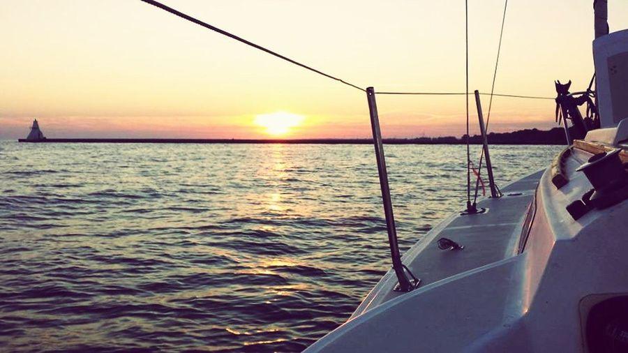 Sunset Sails in Erieau ..... Sailing LakeErie Enjoying Life