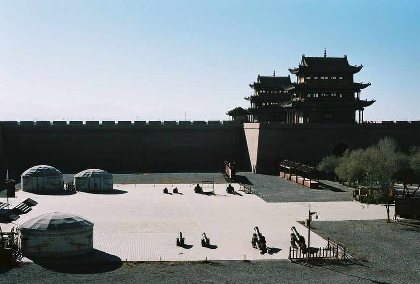 35mm 35mm Film Analog Analogue Photography Architecture Built Structure China Clear Sky Empty Outdoors Sky The Architect - 2016 EyeEm Awards Tourism Travel Destinations