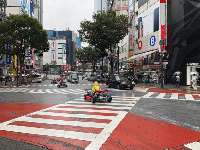 Why not? Mario Cart Shibuyacrossing Shibuya Crossing Road Marking Transportation Crosswalk Zebra Crossing Motor Vehicle