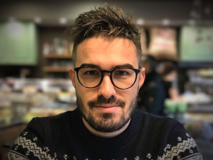 Eyeglasses  Looking At Camera Portrait Beard Front View Real People Focus On Foreground One Person Headshot Indoors  Young Adult Glasses Lifestyles Close-up Day People Michele Persona Ragazzo