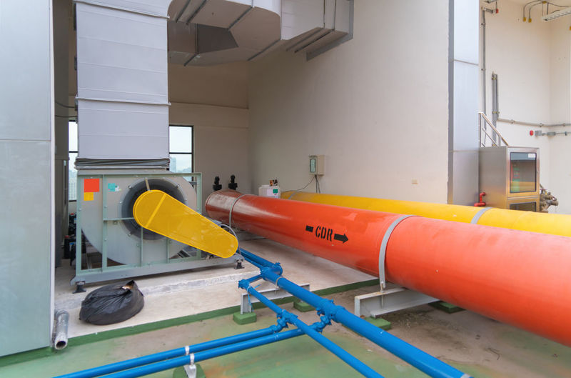 View of yellow machine