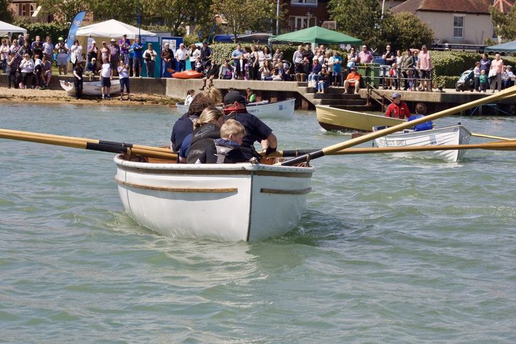 Sea Scouts and Cadets compete in the annual Hamble RIver Raid Rowboat Rowing Day Large Group Of People Leisure Activity Nautical Vessel Oars Outdoors People Race Real People Sea Cadets Sea Scouts Water Go Higher This Is Family