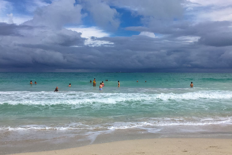 Bad weather on the coast, Cuba, Varadero Atlantic Ocean Bad Weather Cuba Cuba. Varadero Travel Varadero Beach Cloud - Sky Day Group Of People Horizon Horizon Over Water Leisure Activity Ocean Outdoors Overcast Resort Sand Scenics - Nature Sky Surfing Vacation Water Wave