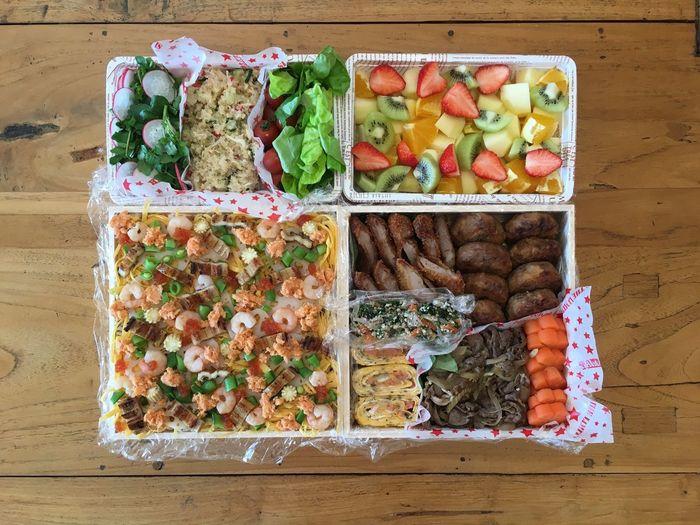 お弁当 ちらし寿司 Sushi Salad Japanese Food 楽屋弁当 差入れ Yummy Lunch Box Healthy Eating Variation Freshness Food Fruit Food And Drink No People