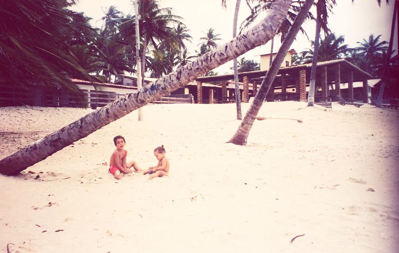 Nordeste  Brasil Onesweetday Sand Shirtless Togetherness Childhood Beach Day Two People Outdoors Tree Real People Child People EyeEm Best Shots Taking Photos