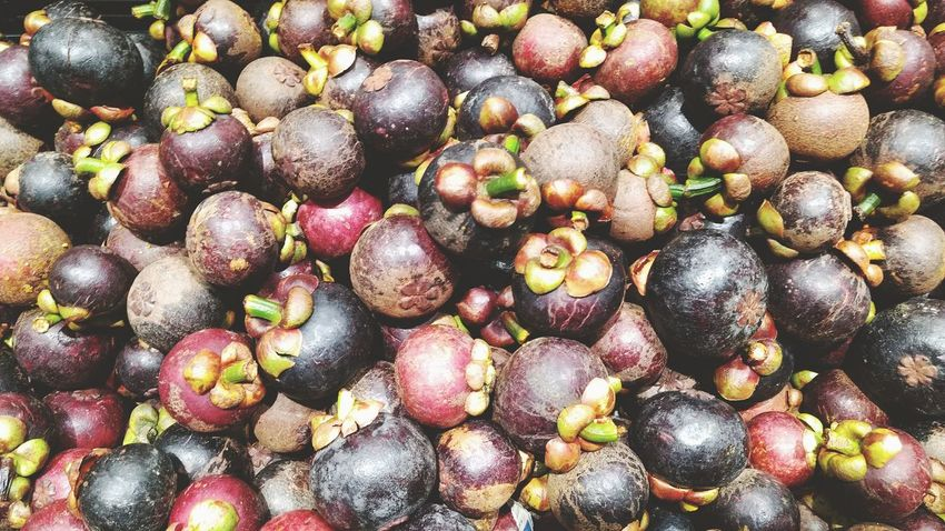 Group of mangosteen in fresh market. Full Frame Healthy Eating Food And Drink Large Group Of Objects Vegetable Market Mangosteen Delicious Freshness Fruits Healthy Shopping Basket Daily Seamless Asian Fruits