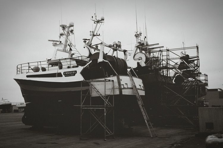 Fishing Boat Winter Harbour