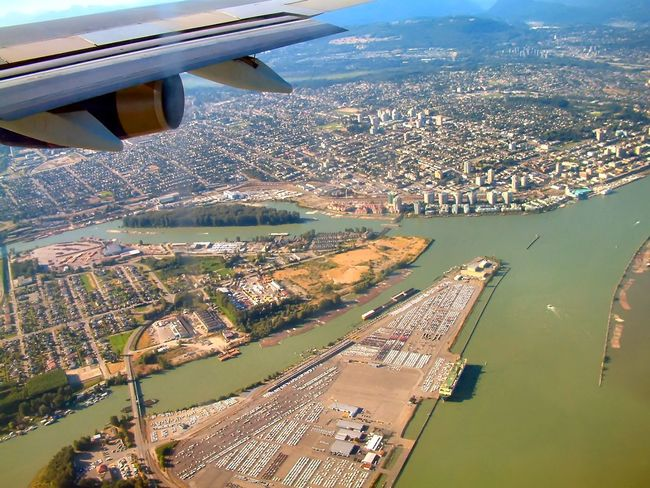 Almost landing in Vancouver!!. Vancouver view from the air. Canada, Eh? BC, Canada British Columbia Enjoying Life